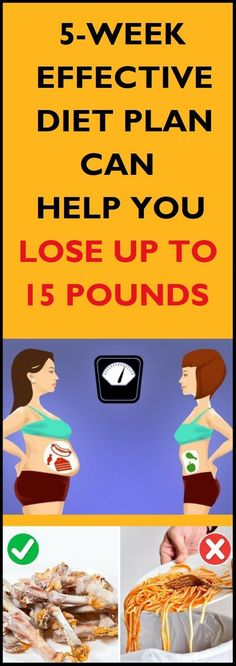 Here you can find a 5-week effective diet which helped people fight the obesity and lose their weight.