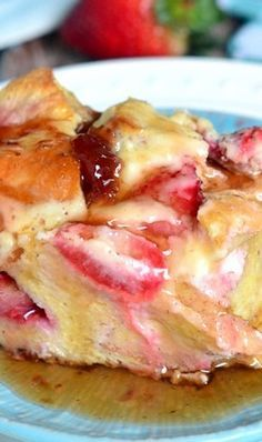 Strawberry Cheesecake French Toast Casserole (1) From: Mom On Timeout, please visit