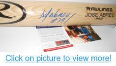 Jose Abreu Chicago White Sox PSA DNA IN The Presence COA Autographed Signed Baseball Bat Blonde