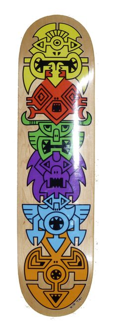 Tiki Monster Skateboard (for Ben) Tiki Art, Skateboard Design, Graffiti, Kids, Inspiration, Young Children, Biblical Inspiration, Boys, Children