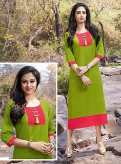 Buy Green Cotton Readymade Kurti 126642 online at lowest price from our mens indo western collection at m.indianclothstore.c.