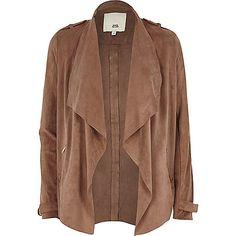 Pink faux suede fallaway jacket - Vestes - Manteaux/vestes - Femme