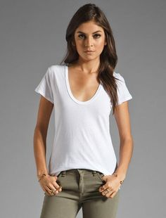 madewell whisper cotton muscle tee worn with the flea market ...