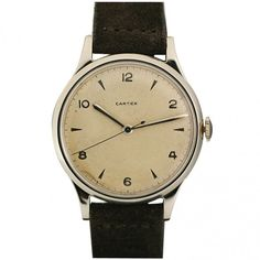 Rare Oversized 1950s Watch Retailed by Cartier