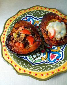 rustic feast: southwestern quinoa tabbouleh squash