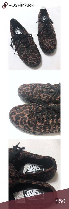 1a4b9ba274 Vans Leopard Print Lo Pro Suede Sneakers
