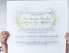 Marriage Certificate Guestbook alternative Wedding by eDanae