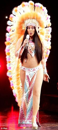 If she could turn back time! Cher wound the clock back to 1973 this week when she performed in an outfit inspired by the traditional Native ...