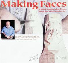 Carving Faces - Wood Carving Patterns and Techniques | WoodArchivist.com