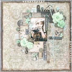 Amy's Pretty Papers: Evermore Adore Layout for ***Creative Embellishments*** and Playing at Prima Marketing's June BAP Challenge!