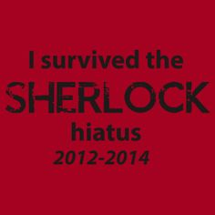 I survived the Sherlock hiatus! Barely. But I survived. ;)