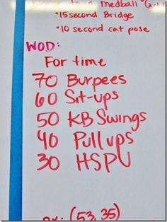 CrossFit WOD at home