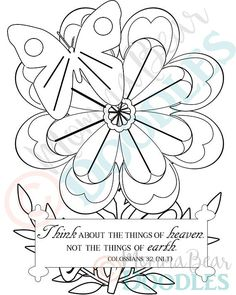 items similar to scripture coloring page flower colossians 32 printable page pdf download on etsy