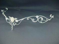 Moonlight  Circlet - Elven Celtic  Bridal  Silver Tiara Wedding Headpiece Headdress - LOTR Arwen Galadriel Circlet Tiara Diadem