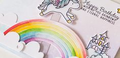 Welcome to the Mama Elephant Design Team blog hop! Our newest release is now live and available for purchase in the store! www.mamaelephant.com This release is too cute I can find any words for it! Just look at these unicorns from Unicorns and Rainbows set! I have so much ideas for them, I like these cutest critters and all sentints on the set and all small pieces! To color the unicorn was a real pleasure — so easy and fun. And I like all ideas and jokes about unicrons, rainbows and…