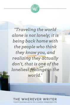 Solo travel quote | Click to read about my experience as a female solo traveler!