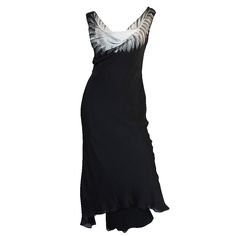 S/S 2009 Alexander McQueen Feather Print Silk Dress | From a collection of rare vintage day dresses at https://www.1stdibs.com/fashion/clothing/day-dresses/