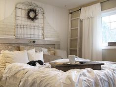 Get bedroom design inspiration from HGTV.com. Browse photos of unusual headboards made from reclaimed doors and other unexpected items.