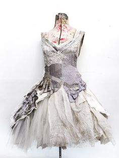 stunning upcycled dress #uncycleddress