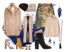 Neutrals and Blues by querriida on Polyvore featuring MANGO, Whistles, Valentino, River Island, Chloé, Chico's, Aurélie Bidermann, Rosantica, Alexis Bittar and Superdry