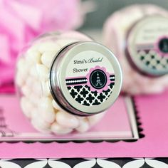 24 Parisian Paris Theme Party Bridal Wedding Personalized Candy Jars Favors Lot on eBay!
