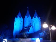 Kalundborg, Denmark, in blue on World Diabetes Day 2012
