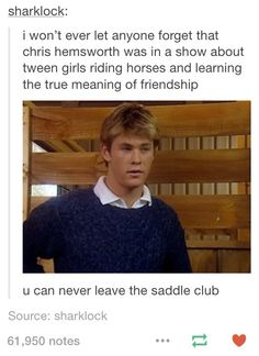 OH MY GOODNESS HE WAS IN SADDLE CLUB! I always loved his character