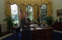 ourpresidents:  David Bowie in the Oval Office of the White House. October 6, 1995. Bowievisited President Clinton at the White House while in town for the Outside World tour. Bowie and his band performed in Bristow, Virginia later that day. More photosfrom the Clinton Library David Bowie January 8, 1947 - January 10, 2016