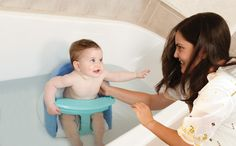 Dreambaby Bath Seat makes it much easier to bath your baby. http://www.babysecurity.co.uk/products/4391/Dreambaby-New-Bath-Seat-Blue.html