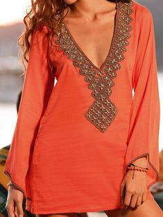 SAHA 2013: Caribbean Beat Beachwear Coverup V Neck Tunic K19 | Swimwear Boutique