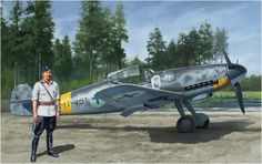 Messerschmitt Bf-109G-6 «MT-451» del as finlandes Eino Ilmari Juutilainen, «Illu» Juutilainen para los amigos. Box art Hasegawa  http://www.elgrancapitan.org/foro/viewtopic.php?f=52&t=17924&p=909332#p909269