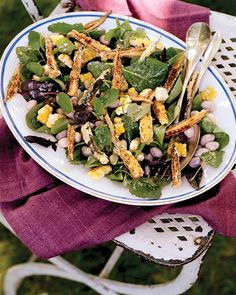 A total taste of summer, this seasonal, succotash-inspired salad is just right for an elegant backyard feast where meats are cooked…