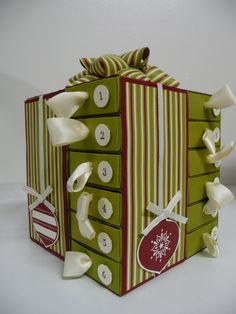 Paper Candy Creations: Jolly Holiday Match Box Advent Calendar