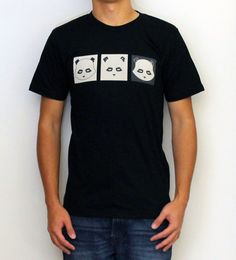 The Geek Panda Trifecta. 100% Fine Jersey Ccotton. Durable rib neckband. Form-fitting. Screen printed with environmental friendly water based ink.
