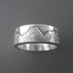 Custom Mountain Range Wedding Ring - made with your favorite mountains - Beth Millner Jewelry - 1