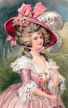 Have Fun with Silk-Ribbon Embroidery - Embroidery Patterns Victorian Pictures, Vintage Pictures, Vintage Images, Vintage Photographs, Vintage Prints, Vintage Art, Vintage Ladies, Vintage Ephemera, Vintage Postcards