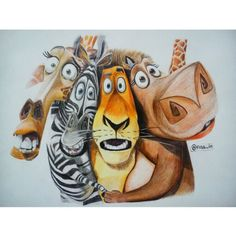 Madagascar Colorpencil in paper sketchbook
