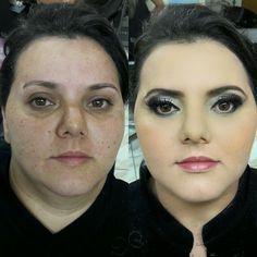 Um pouco do meu trabalho!!! Amo maquiagem  Make - antes e depois make noiva