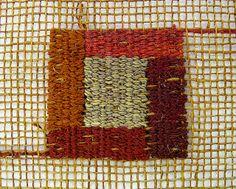 Tapestry detail; silk linen; 1.5 x 1.5 by Morgan Clifford, via Flickr