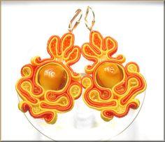 maya   soutache earrings by KimimilaArt
