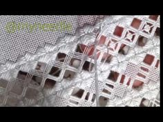 """Hardanger embroidery""""spider's web"""". - YouTube                                                                                                                                                      Más"""