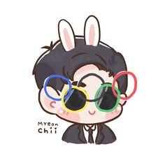 #Exo #Fanart #Suho Exo Kokobop, Kpop Exo, Exo Stickers, Chibi, Exo Anime, 5 Years With Exo, Exo Fan Art, Exo Lockscreen, Kpop Drawings