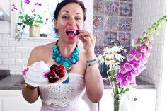 Raw Vegan dairy free coconut cream & cherries - yum & bliss