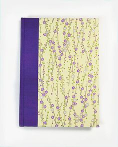 """Writers, a great place to journal your thoughts. poems, stories Blank Book Lined Paper Journal """"VIOLET CHERRY"""" #wolfiesbindery on Etsy $25.00"""