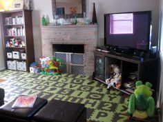 Baby Proof Fireplace By Turning Into A Couch And Put