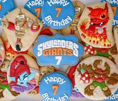 Amazing set by.Oh Sugar Events: Skylander's Giants Cookies.