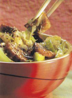 Kacsa hoisin módra, póréval és káposztával | Receptek Wok, Ethnic Recipes