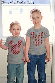 Diary of a Crafty Lady: Mickey Mouse Inspired Valentines Day T-Shirt
