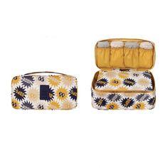 Multifunction Underwear Organiser - Mustard Sparkle - KORENKAB #korenkab #underwearorganiser #travel #travelbags
