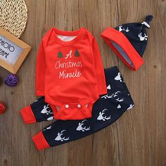 http://babyclothes.fashiongarments.biz/  Christmas Infant Baby Boy Girl Outfits Clothes Romper Pants Leggings 3PCS Set, http://babyclothes.fashiongarments.biz/products/christmas-infant-baby-boy-girl-outfits-clothes-romper-pants-leggings-3pcs-set/,  ,   SizeRomper LengthSleeve LengthChestPant LengthWaistAge…